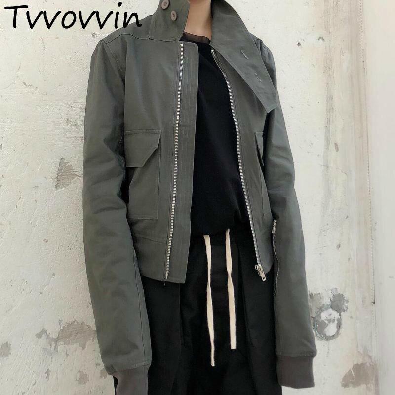 Solide Vestes Veste Coton 2019 Couleur Col R237 À Longues Courte Manteau Roulé Gray Femmes Nouveau Manches Décontracté Personnalité BqtOw4cxS