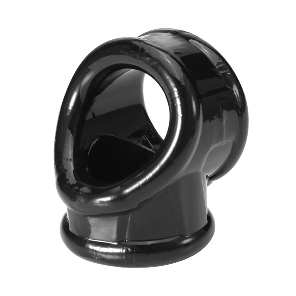Penis Ring Soft Adjustable Black Scrotum Ring Cage Testicle Sleeve Penis Cover Cock For Male Men