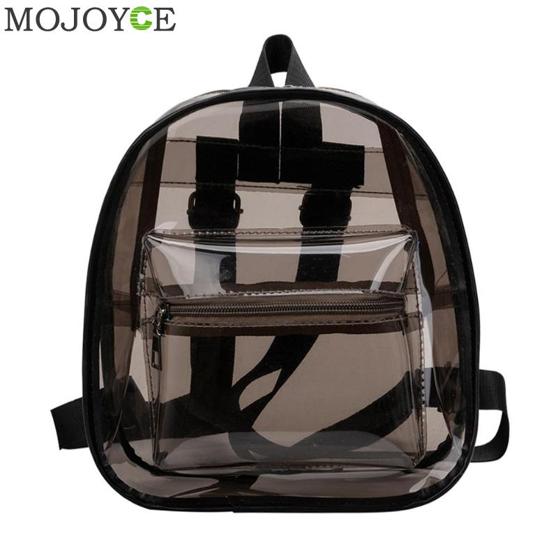 Clear Transparent Women Backpack Shoulder Bags For School Mini Backpack Schoolbags For Teenage Girls Fashion Bookbag Mochila