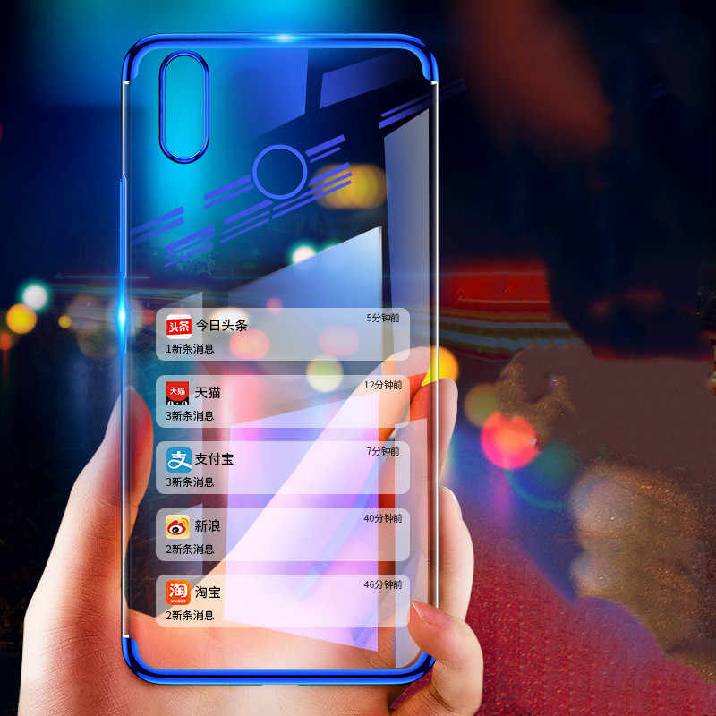 For Huawei P Smart Y6 2019 P30 Pro Honor 8C 8X lite 8A P Smart Plus Soft TPU Silicon Plating for Honor 10 Lite Nova4 Phone Case