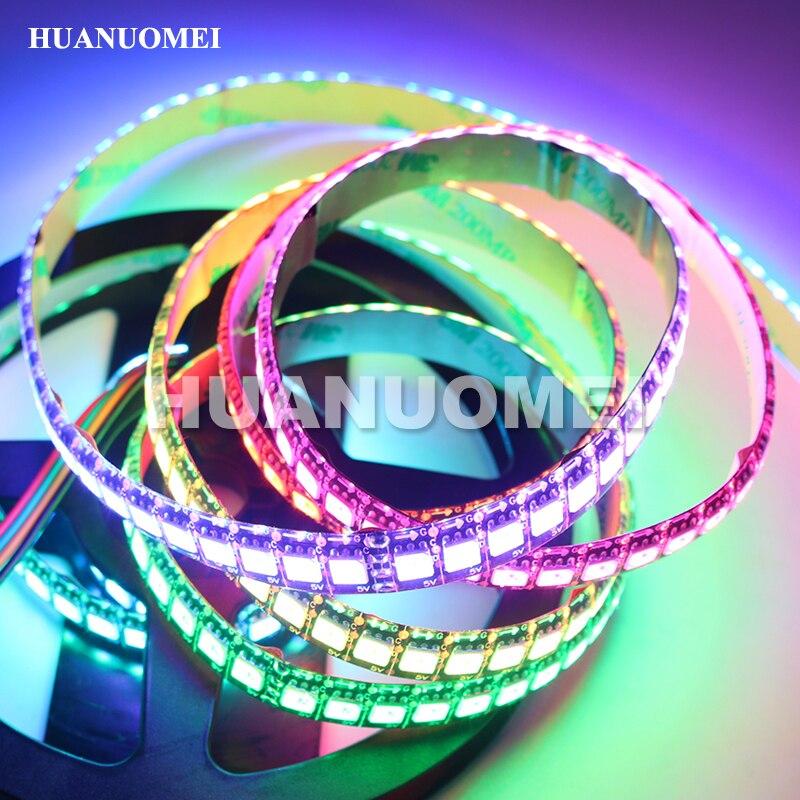 1 M 144 pièces APA-102C adressable lumière bande de pixel LED RGB APA102 144 Pixels/m 5050 SMD RGB bande Flexible; étanche IP65; PCB noir
