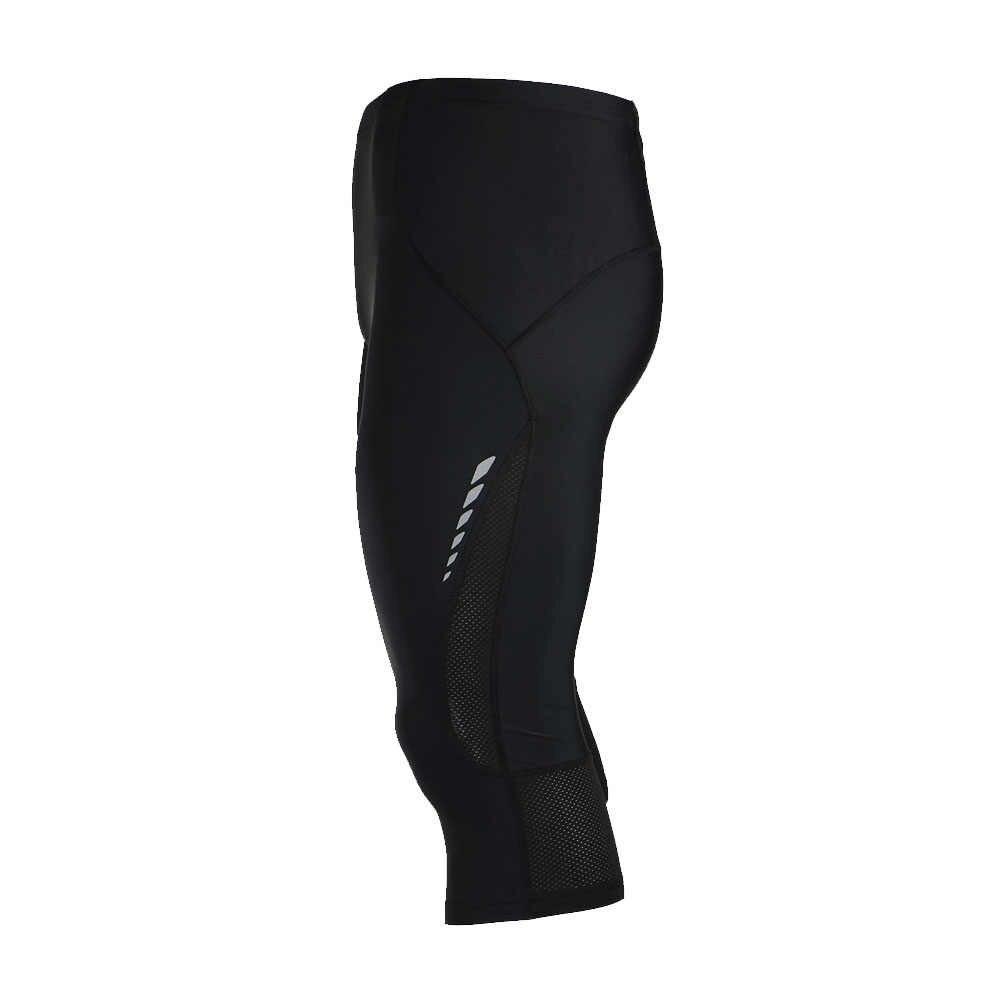 Arsuxeo calções de ciclismo masculinos estiramento respirável secagem rápida shorts de compressão ciclismo correndo calças justas shorts 3/4 comprimento calças