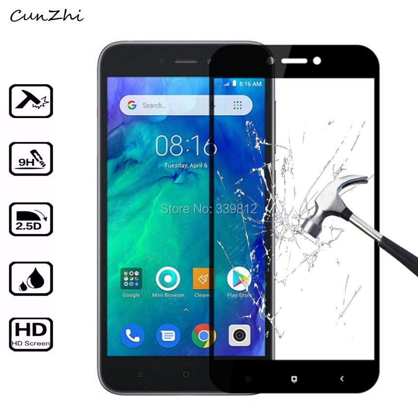 2.5D 9H Explosion proof Tempered Glass Protective For Xiaomi Redmi Go Full Cover Mobile phone Screen Protector Film-in Phone Screen Protectors from Cellphones & Telecommunications