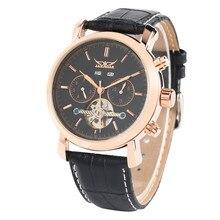 Montres mécaniques automatiques pour hommes montre mécanique squelette Tourbillon bracelet en cuir automatique montres mécaniques de luxe