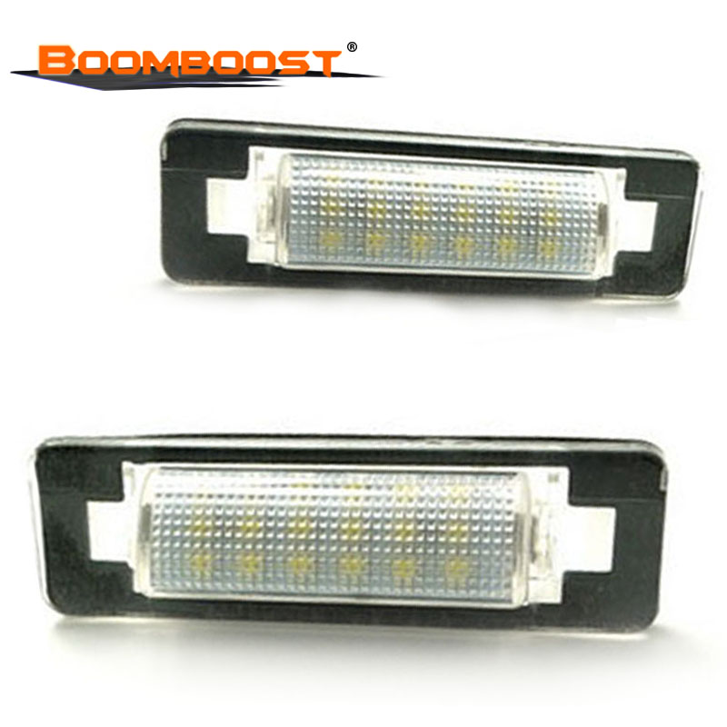 2pcs 18 <font><b>LED</b></font> For Benz W210 <font><b>W202</b></font> E300 E55 C230 C43 AMG Car <font><b>LED</b></font> Number License Plate Lamps OBC 3528 SMD image