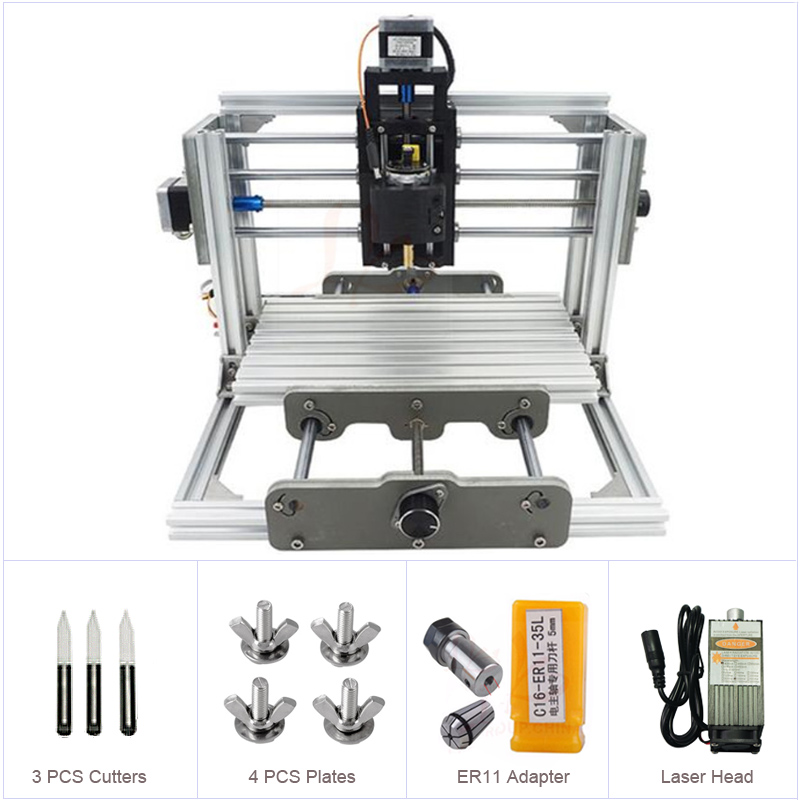 Russia No Tax Mini CNC 2417 500-2500mw Laser CNC Engraving Machine Wood Carving Router With GRBL Control