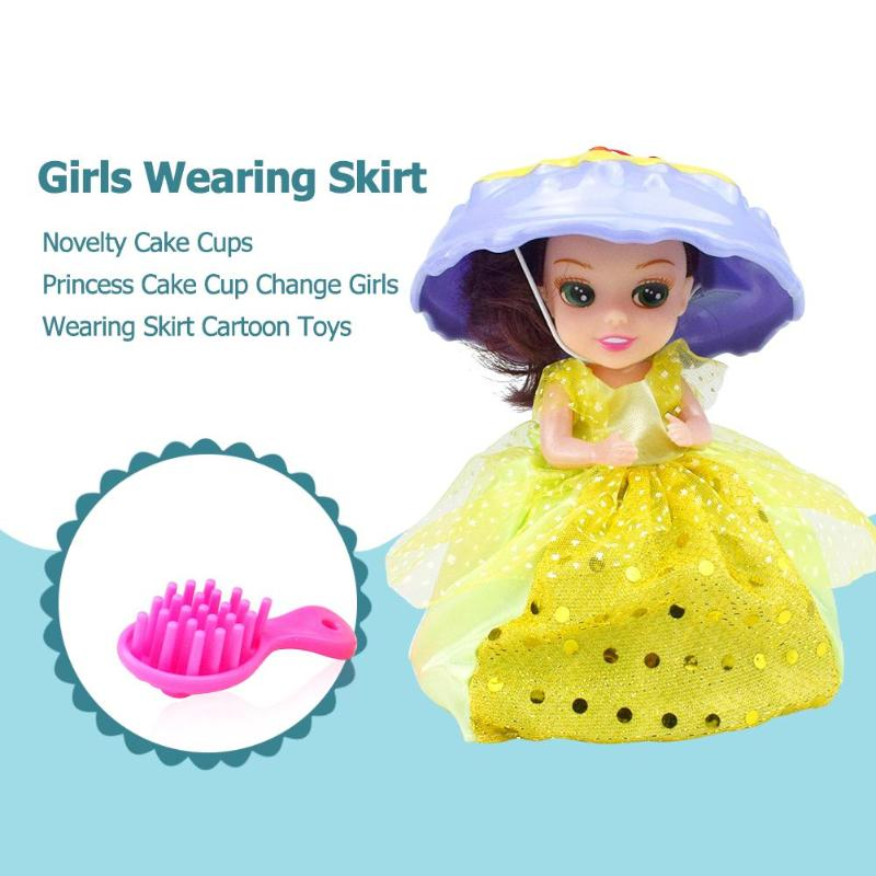 1Pc Mini Cake Doll Toy Soft Cupcake Princess Doll Toys For -2183