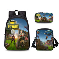 2019 Muth 3 piece suit FORTNITE Directly Fortress Of Night Student Bag 3d Printing Game Cartoon Comic Both Shoulders Package