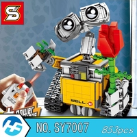 Well E Robot Remote control Electric Model toy girl gift Building Blocks Bricks Compatible legoins series SY 7007