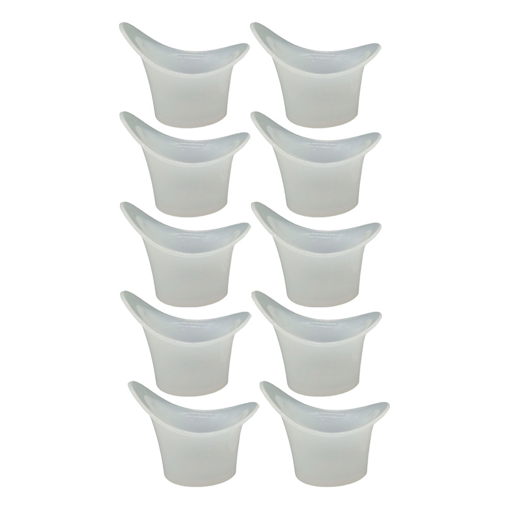 10pcs Eyewash Cup Silicone Resuable Medical Soft Eye Bath Cup Eye Wash Cup For Elderly Women Men Children To Rank First Among Similar Products
