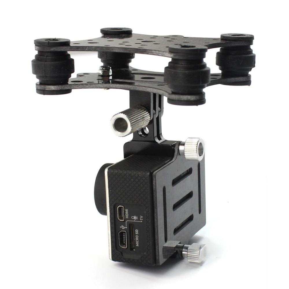 Carbon Fiber Shockproof Camera Gimbals Mount For DJI Phantom GoPro Hero RC Drone
