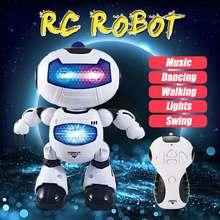 LEORY nowy elektryczny inteligentny Robot zdalnie sterowany RC Play muzyka taniec lekki Robot dla dzieci prezent
