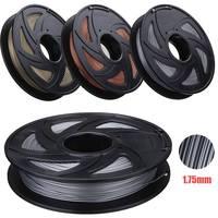 Aluminum/Bronze/Copper Color 1.75mm 0.5kg PLA Flexible Filament For RepRap 3D Printer Materials