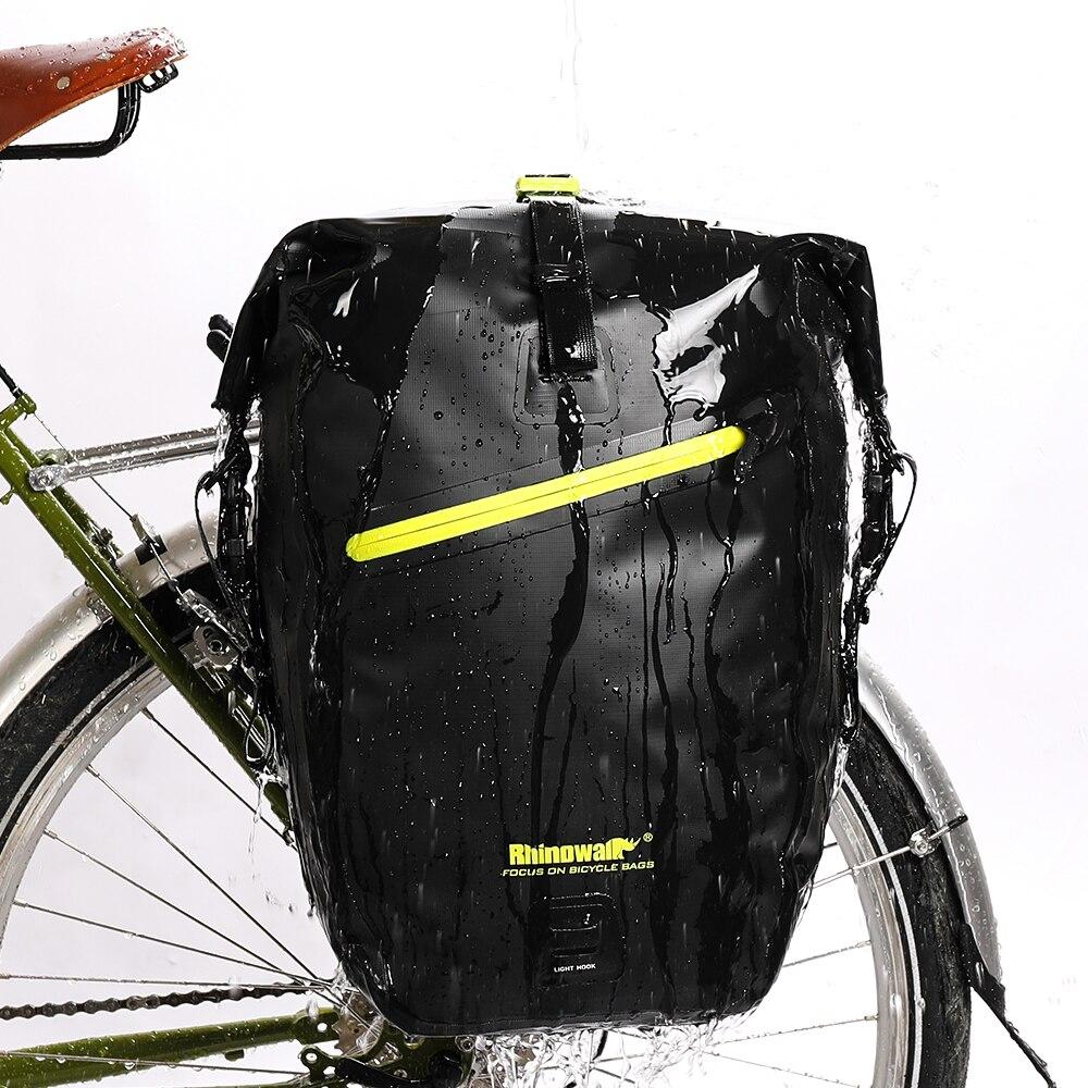 Sac à dos extérieur imperméable PVC sac de vélo Imperméable Grande Capacité Vélo Selle Sac sac à dos épaule Sac À Dos de Vélo