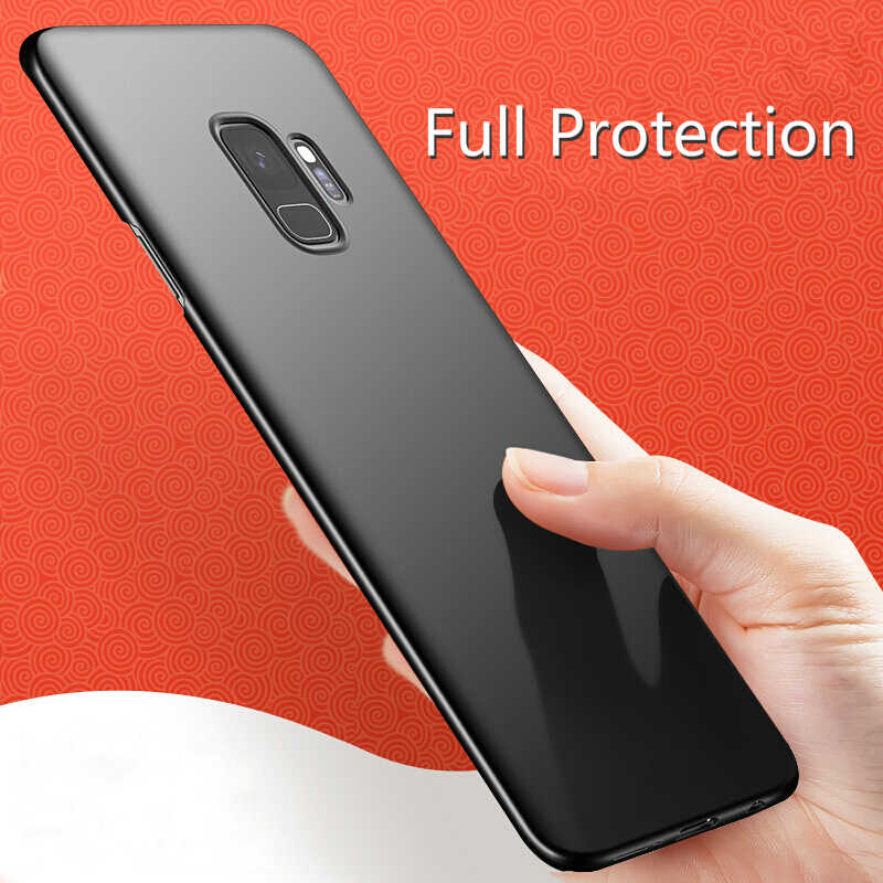 Slim Matte Cases For Samsung A750 A6 A8 Plus 2018 J4 J6 J8 2018 Galaxy Note9 S9 S8 Plus Note8 Cover Hard PC Full Phone Bag Coque