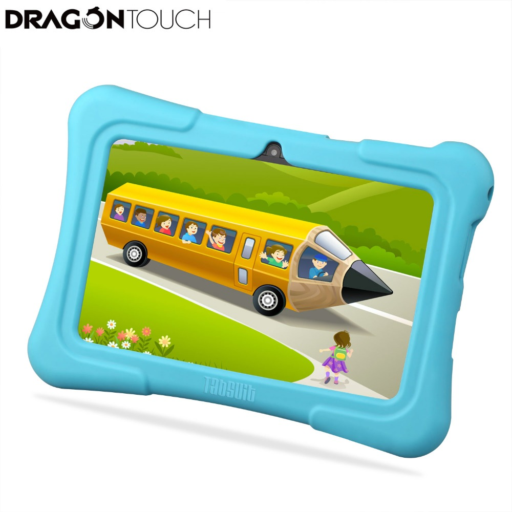 Dragon Touch Y88X Plus <font><b>7</b></font> <font><b>inch</b></font> 8GB Android Kids <font><b>Tablet</b></font> Quad Core CPU Lollipop IPS Display Kidoz Pre-Installed 2MP Christmas Gifts image