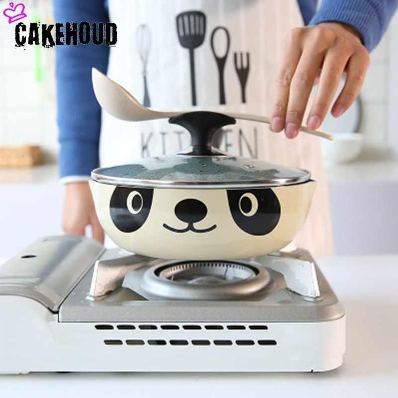CAKEHOUD 24 cm Panda casserole japonaise Induction cuisinière universelle poêle antiadhésive aluminium poêle poêle pierre Pot ustensiles de cuisine