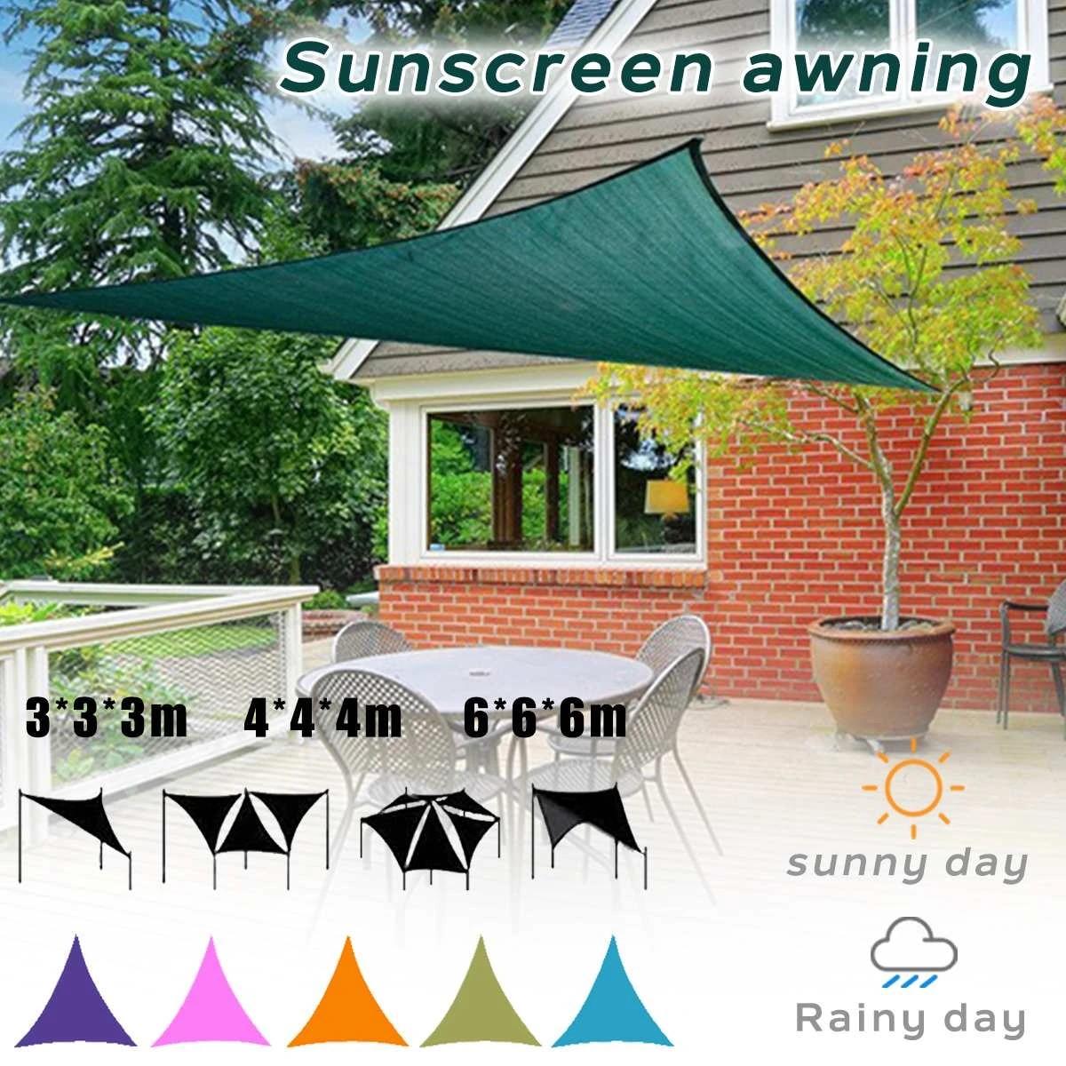waterproof triangle awning shade sail sun outdoor waterproof sun shade sail garden patio pool camping picnic tent