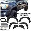 Горячая продажа 6 шт./компл. ABS для карманного стиля Striae для крыла вспышки для Toyota Tacoma 2012-2015
