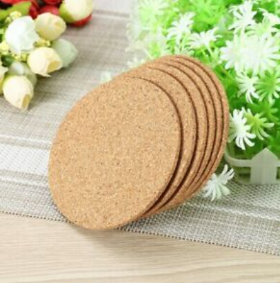 6pcs Plain Round Cork Coasters Coffee Drink Tea Cup Table Placemats Creative Mug Coaster Heat resistant Cup Coaster F in Mats Pads from Home Garden
