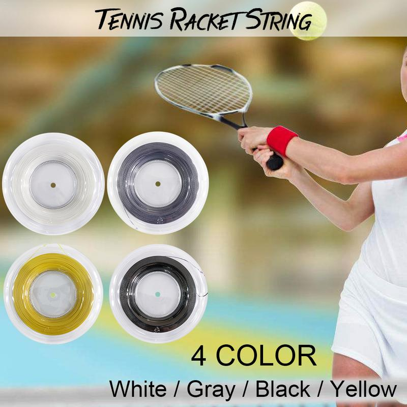 Heilsa Concave Ribbed Tennis Racket Strings Polyester Alu Power Rough 1.25mm 200m/reel 4 Colors 2016 top quality tennis racket string alu power rough luxilon 200m 16l reel grey string free shipping