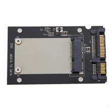 """50 мм Маленькая дощечка mSATA SSD 2,"""" жесткий диск SATA адаптер конвертер msata адаптера переменного тока для Windows2000/XP/7/8/10/Vista/Linux и Mac"""