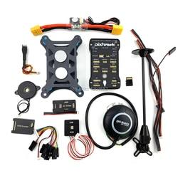 Pixhawk PX4 Autopilot PIX 2.4.8 32 Bit Flight Controller with Safety Switch Buzzer 4GB Card PPM I2C RGB M8N for F450 Quadcopter