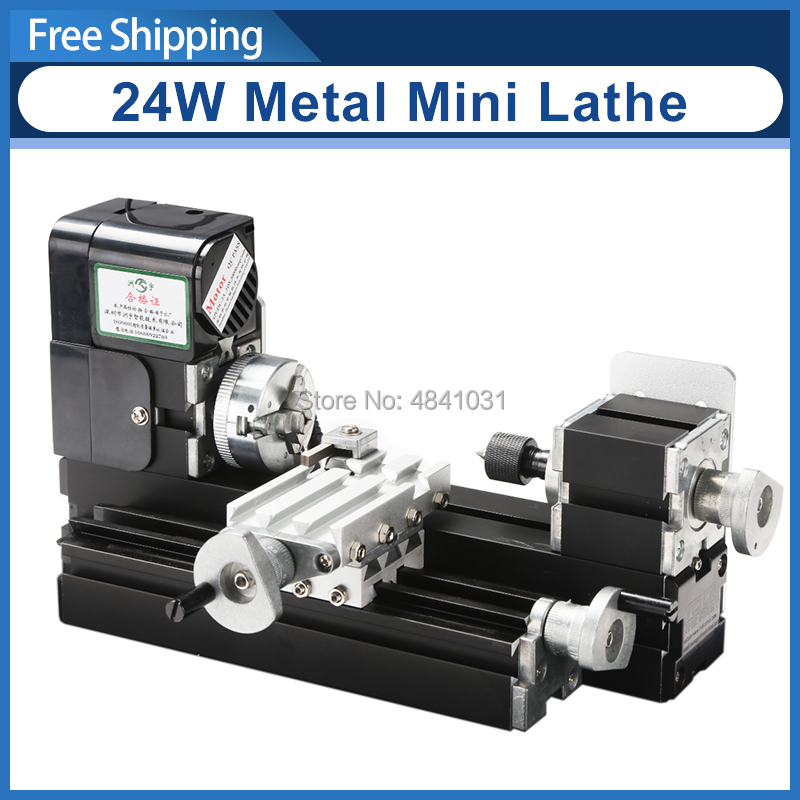 Z20002M 24W Metal Mini Lathe/20000rpm didactical metal lathe machine/mini lathe for students DIY Works-in Lathe from Tools