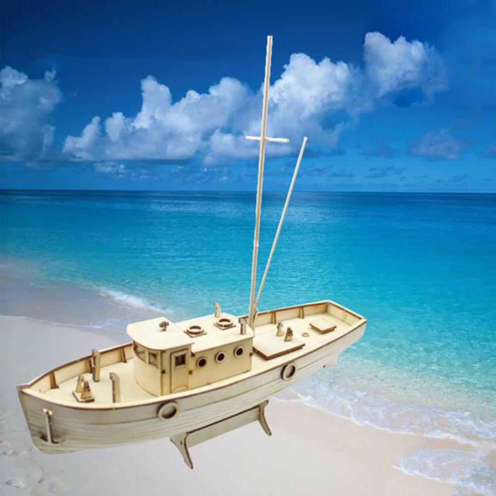 Wooden Sailing Boat Building Kits Ship Model Wooden Sailboat Toys  Sailing Model Assembled Wooden Kit DIY Decoration Toy