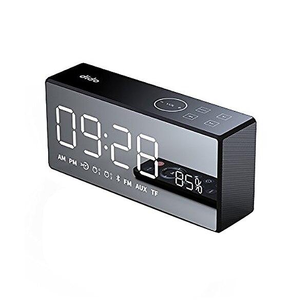 Dido X9 Rechargeable miroir Led affichage Volume et basse Hi Fi sans fil Bluetooth haut parleur Fm Aux réveil noir-in Portable Haut-parleurs from Electronique    1