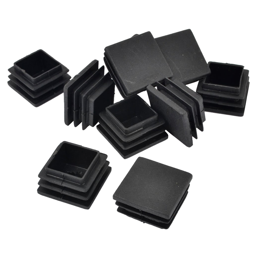 Promotion! 20mm X 20mm Hard Plastic Pipe Flat End Inserted Tube Table LEG End Plug 10 Pieces Black