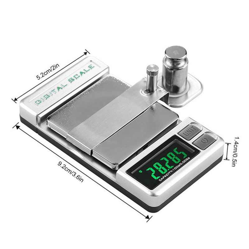 LEORY Professional High Precise Digital Turntable Force Scale Gauge Arm Load LCD Backlight 0.005/100g For LP Vinyl Record Needle