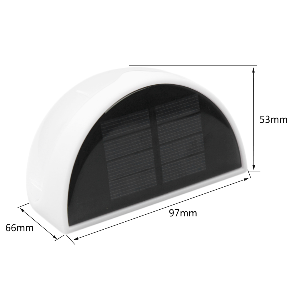0 3W 6 Led Solar Power Auto Charging Light Outdoor Waterproof Lamp Fence Wall Lamp Garden Landscape Path Light White in Wall Lamps from Lights Lighting