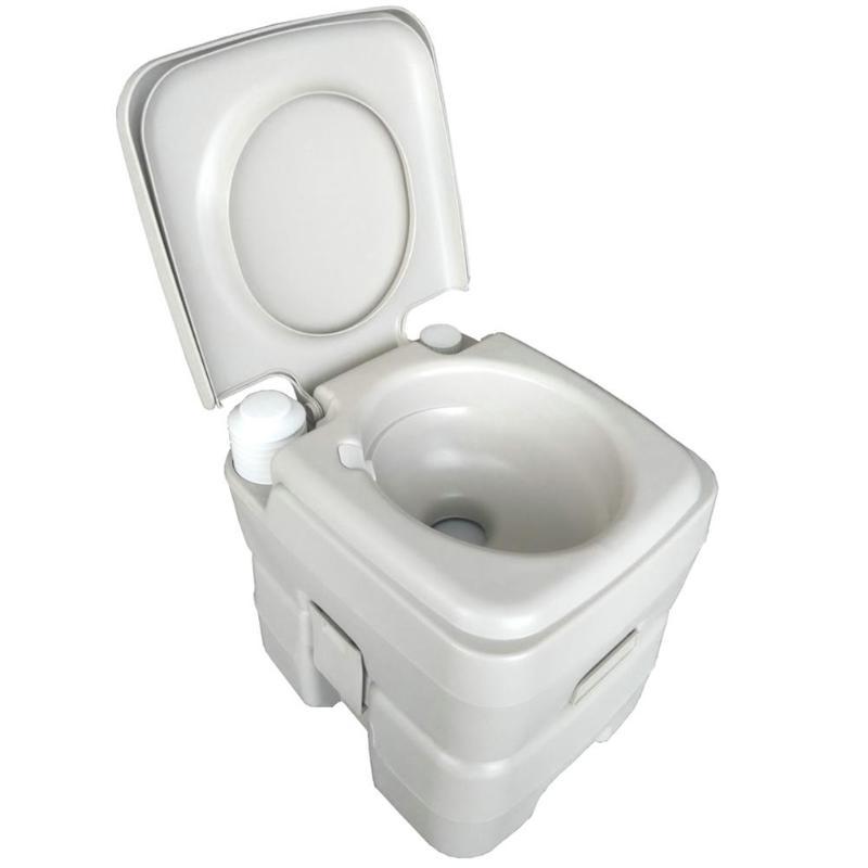 CHH 1020T de toilette amovible 20L mises à niveau de rinçage Portable peut déplacer toilette modifiée RV Camping en plein air voyage randonnée équipement - 3