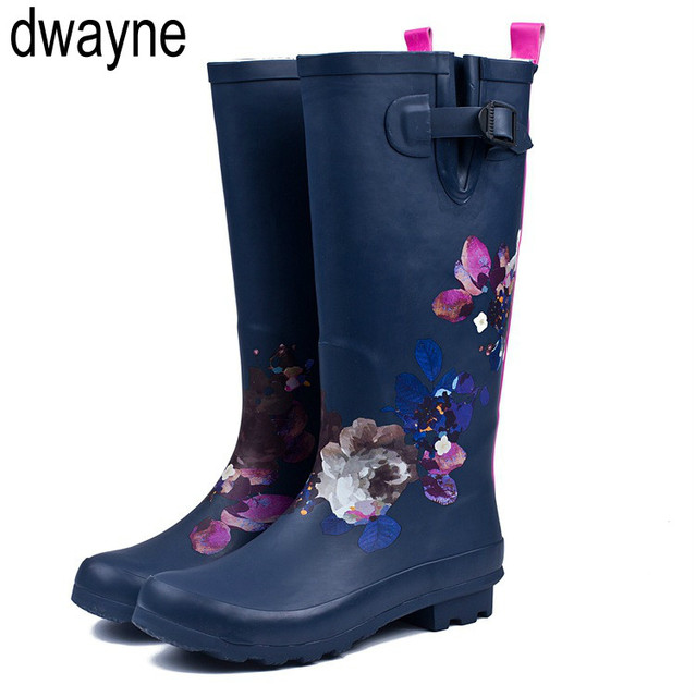 2019 New Fashion Women Shoes Punk Style Heel Riding Boots Zipper Shoes Knight Tall Boots Women Rain Boots Large Size hjm8
