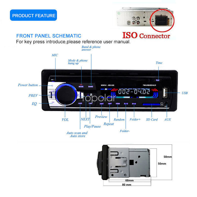 Superb 1 Din Car Radio Car Audio Fm Bluetooth Mp3 Audio Player Bluetooth Wiring 101 Archstreekradiomeanderfmnl
