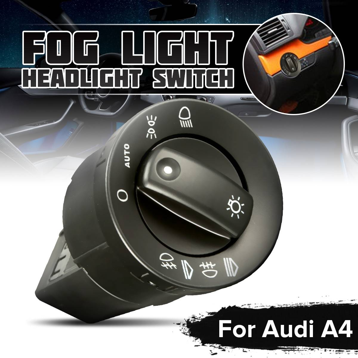 New Front Rear Fog Light Headlight Switch For Audi A4 8E B6 B7 8E0941531B AUTO Switches Replacement Parts