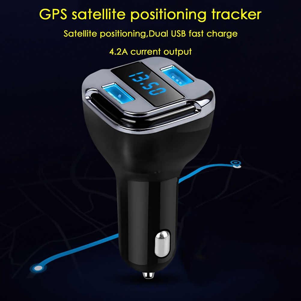 سيارة مزدوجة USB شاحن سيارة في الوقت الحقيقي تجسس لتحديد المواقع المقتفي نمط العالمي لتحديد المواقع تتبع