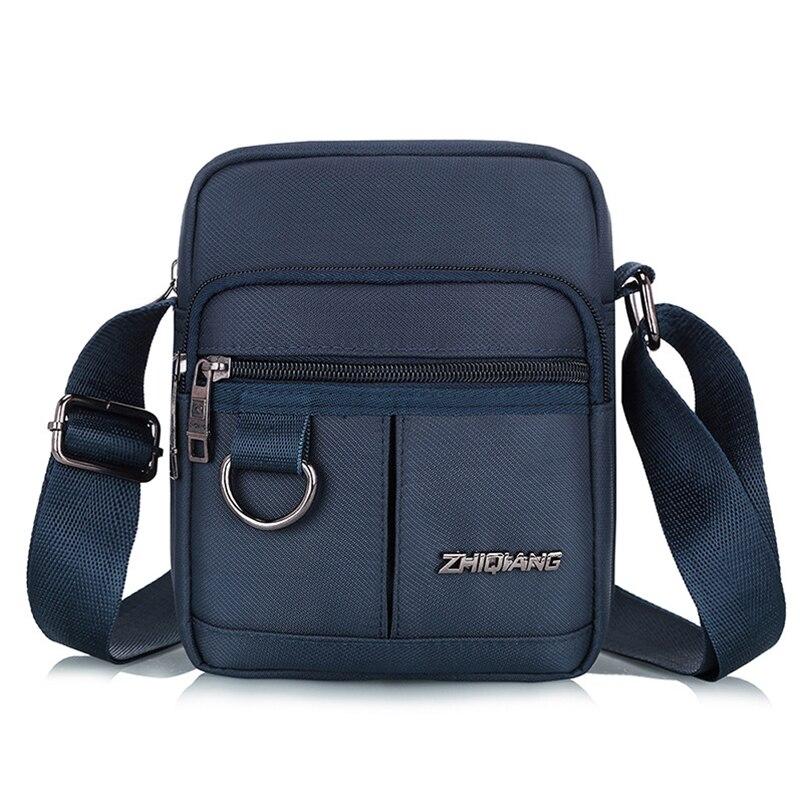 Casual Men Nylon Shoulder Bags Fashion Crossbody Bag Business Handbag Waterproof Messenger Bag Single Wide Strap Black Bags Male