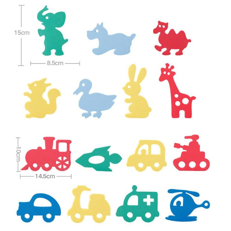 Classic Toys Soft Eva Baby Bath Toys Puzzles Animal Car Foam Floating Toy Kids Early Montessori Educational Toys For Children Christmas Gift