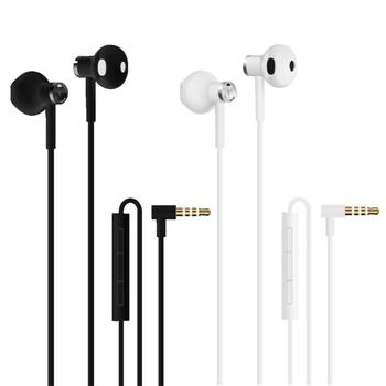 Original Xiaomi Hybrid DC Half In-Ear Earphone 3.5 MEMS L-Shape Plug Dual Driver Earphones Earbuds With Microphone For Android