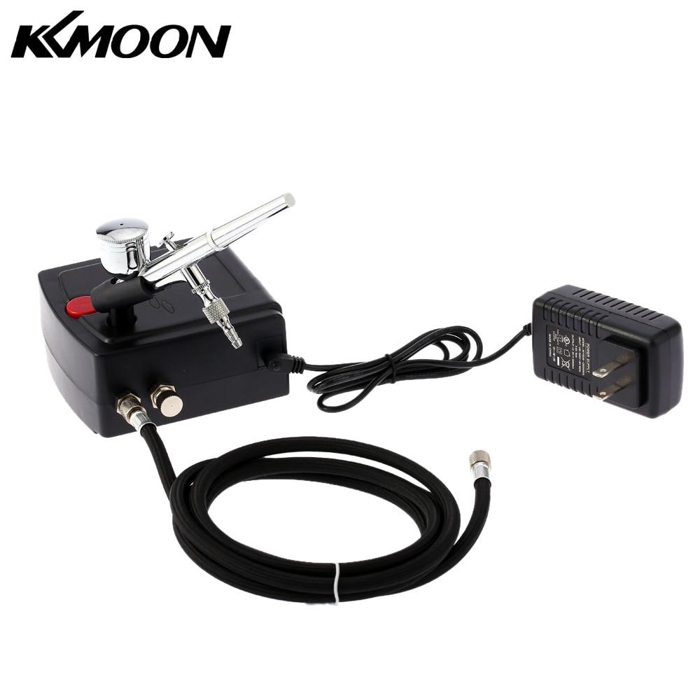 KKmoon Dual Action Airbrush Compressor Kit Air Brush paint Spray Gun Sandblaster Sandblast gun for Art