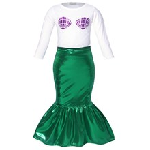 AmzBarley Baby Girls Sequins Princess Ariel Mermaid Party Birthday Costumes Shell Bodysuit Romper Jumpsuit Fancy Outfits
