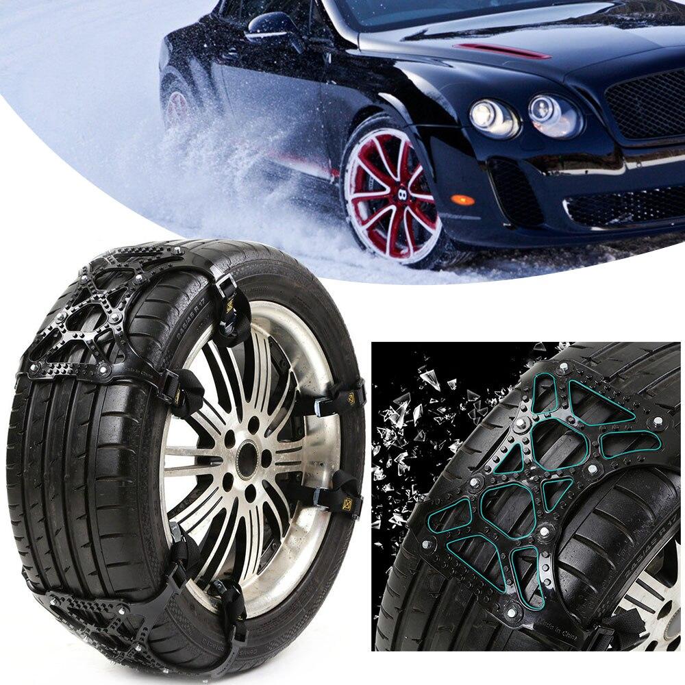 Universel 3 Pcs/Lot TPU voiture pneu pneu anti-dérapant neige chaîne costume 165-265mm pneu hiver chaussée sécurité pneus chaînes escalade de neige