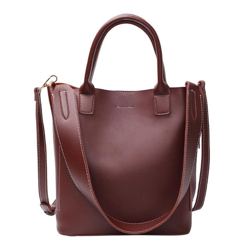 2Pcs/Set Casual Messenger Handbags For Women Classic Crossbody Shoulder Bags Pu Leather Elegant Tote Bag Bolsa Feminina