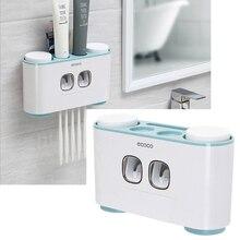 Автоматический Диспенсер зубной пасты пыленепроницаемый держатель зубной щетки с чашками не подставка для настенного монтажа Полка-органайзер для ванной набор