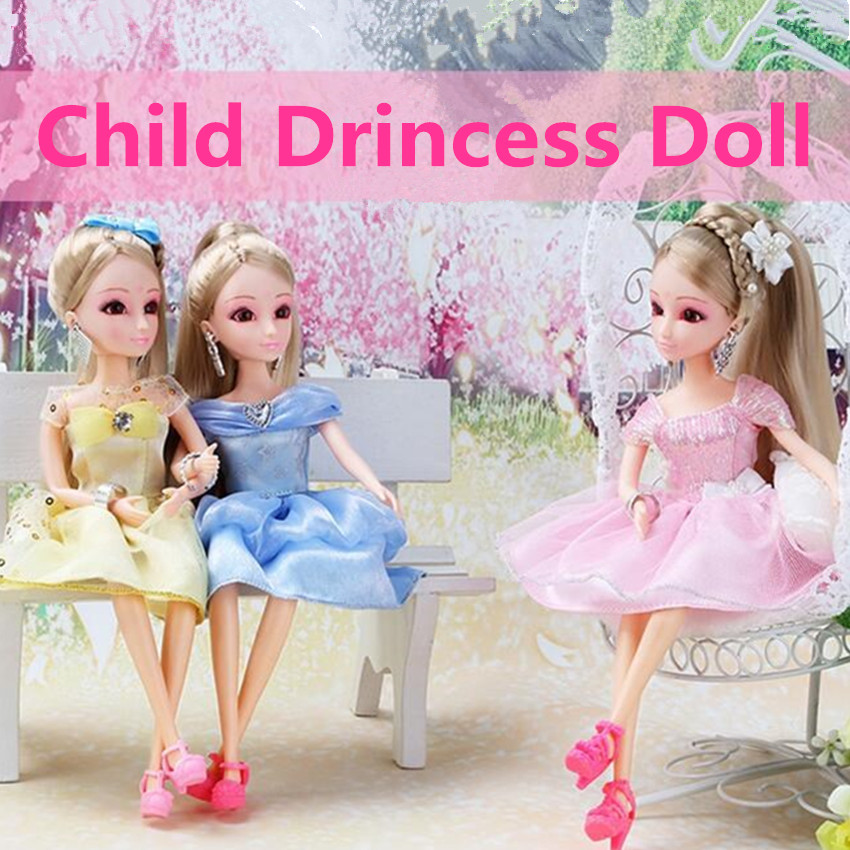 1PCS Fashion Dressup Dolls Set Kid Toys Best Christmas Birthday Gifts For Girls Party Princess Dress For Doll