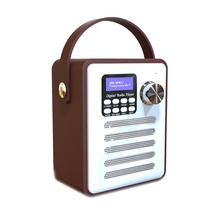 Multifunctional Retro Radio DAB Digital Internet FM Portable Alarm Clock Wooden Box Stickers Belt Bluetooth TF Card U