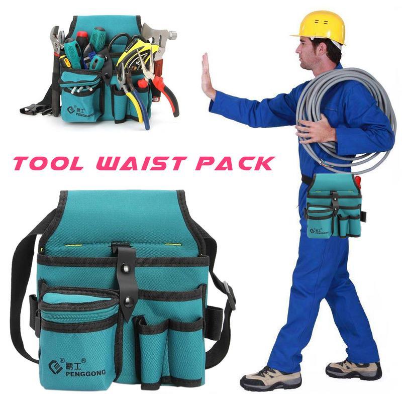 Canvas Hardware Oxford Kit Electrician Kit Thicken Multifunction Waist Bag Waist Hanging Type Tool Bag