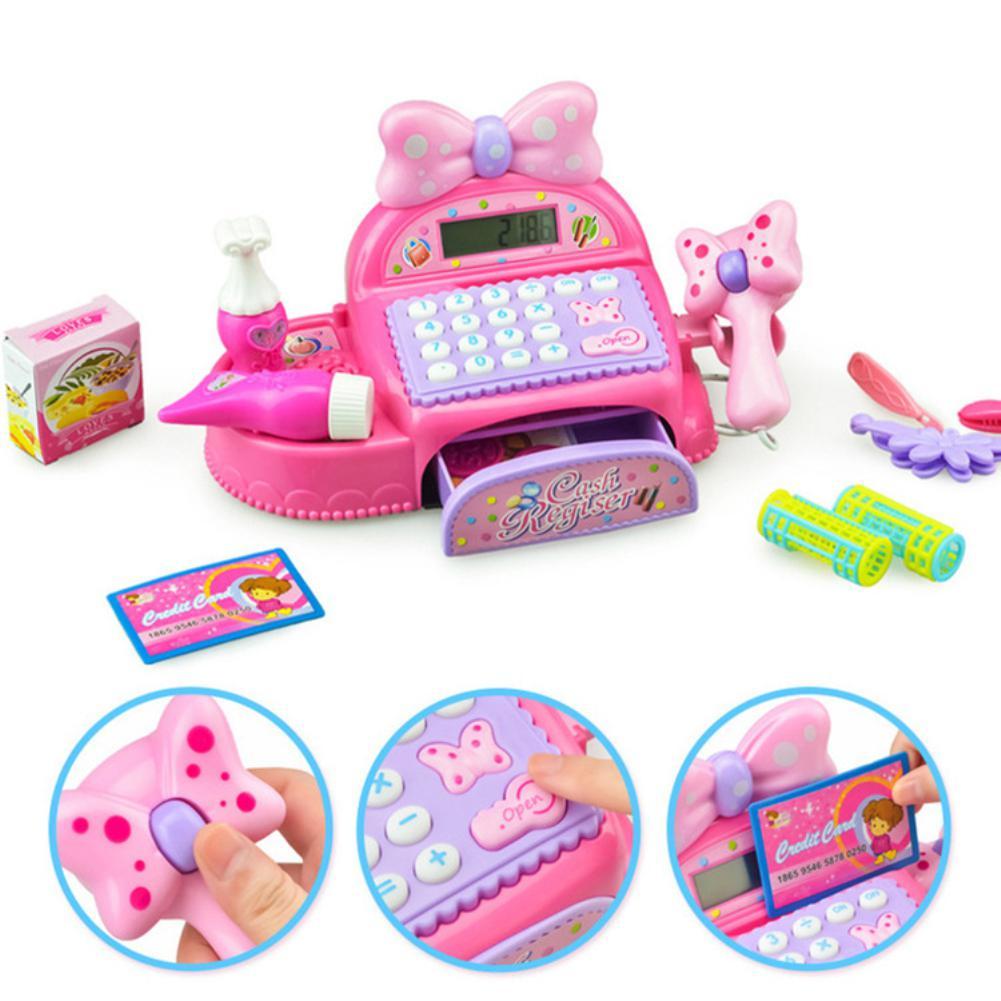 LeadingStar Pretend Play Kids Girls Mini Simulated Cash Register Pretend Play Ea